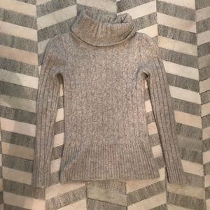J. Crew Chunky Turtleneck Cable Knit Sweater